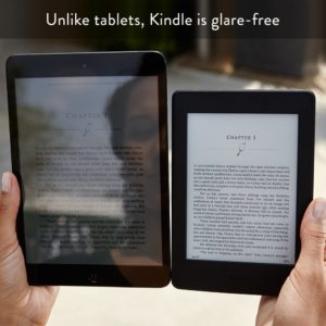 Glare on glass, not on e-paper
